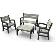 Keter Tuscany 4 Seater Wood Effect Lounge Set