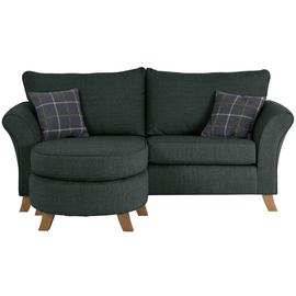 Argos Home Kayla 3 Seater Reversible Fabric Chaise -Charcoal