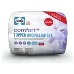 more details on Sealy Comfort Plus Mattress Topper and Pillow Set - Double.