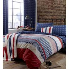 Catherine Lansfield Stars and Stripes Duvet Set - Single