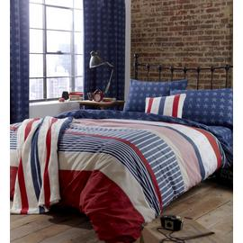 Catherine Lansfield Stars and Stripes Bedding Set - Single