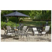 HOME Sicily 11 Piece Adjustable Metal Patio Set