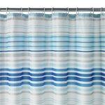 more details on HOME Skinny Stripe Shower Curtain - Blue.