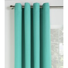 Collection Linen Look Blackout Curtains - 168x183cm - Teal