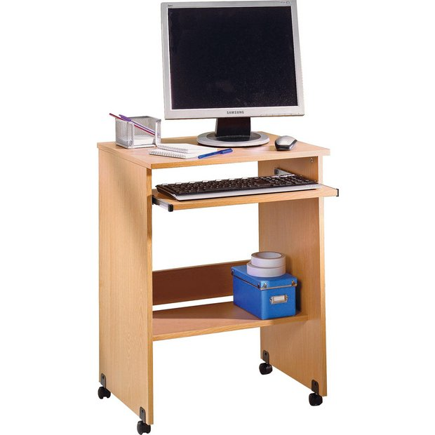 Buy pc trolley beech effect at your online shop for desks and workstations Argos home office furniture uk