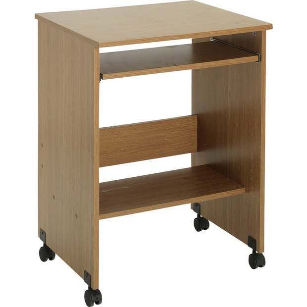 Buy Functional Pc Trolley Oak Effect At Your Online Shop For Desks And
