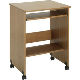 Argos Home Functional PC Office Trolley - Oak Effect