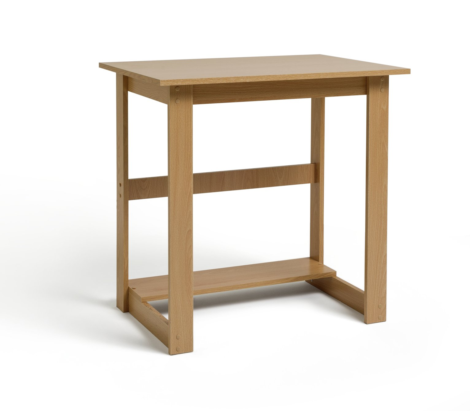 Argos Home Office Desk   Beech Effect