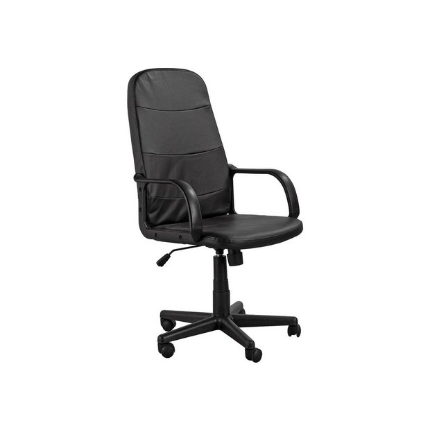 Buy home parker gas lift manager 39 s office chair black at your online shop for Argos home office furniture uk