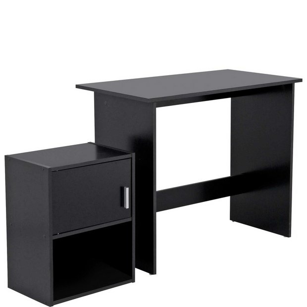 Buy Home Soho Office Desk And Cabinet Package Black At Your Online Shop For