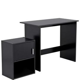 Habitat Soho Office Desk and Cabinet Package - Black