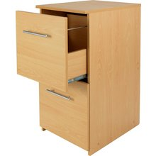 HOME 2 Drawer Filing Cabinet - Beech Effect