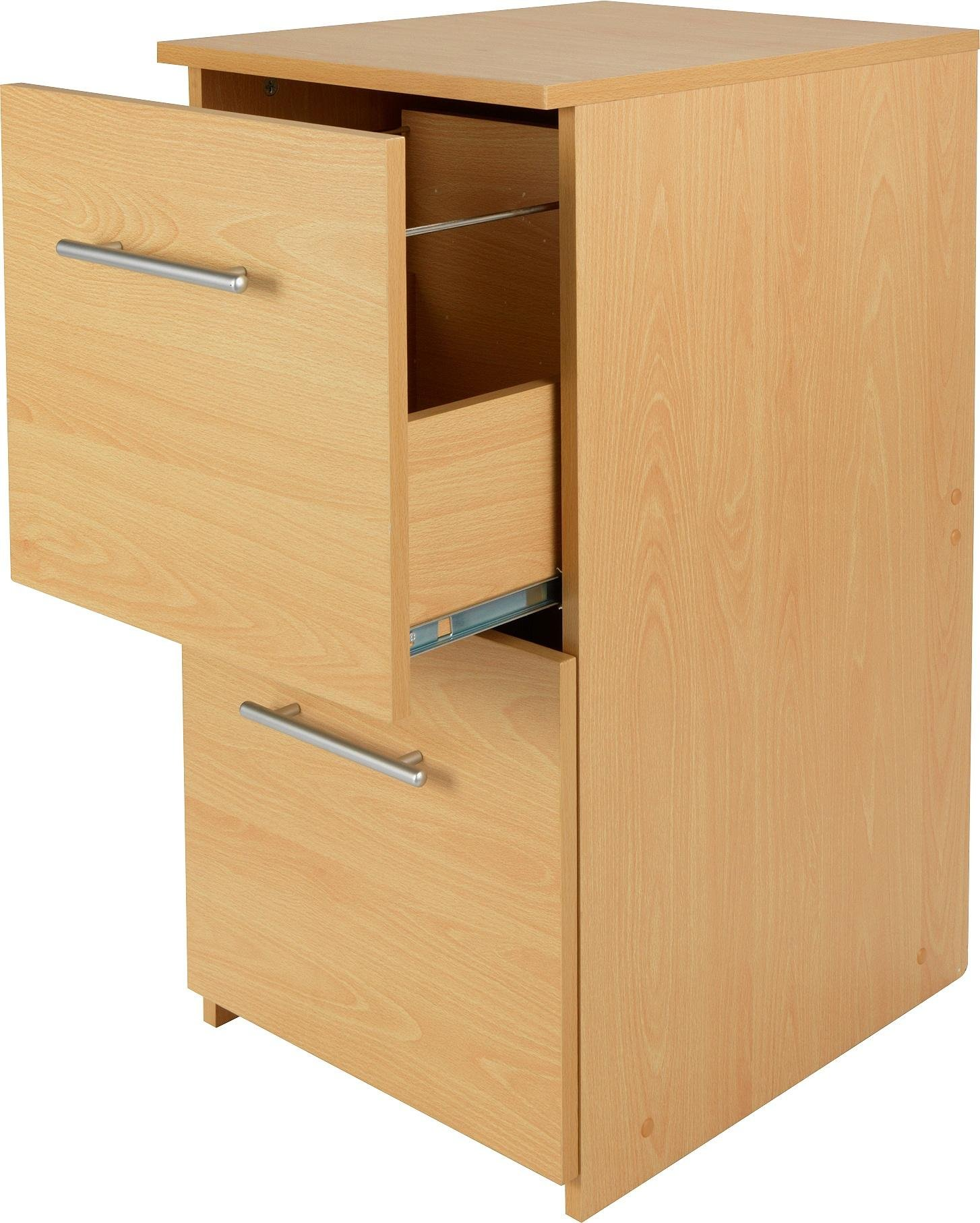 home 2 drawer filing cabinet beech effect