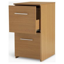 HOME 2 Drawer Filing Cabinet - Oak Effect