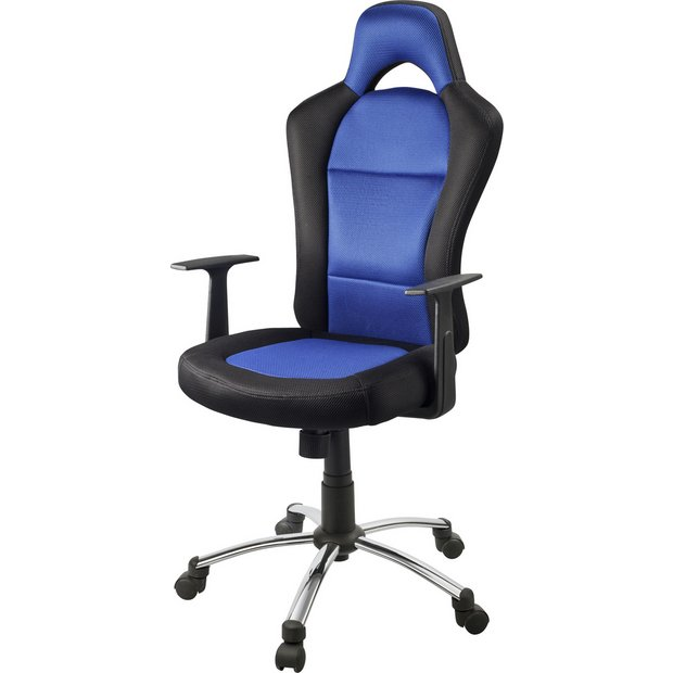 Buy home gaming office chair blue and black at your online shop for office Argos home office furniture uk