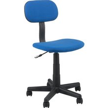 Gas Lift Height Adjustable Office Chair - Blue