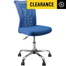 Argos Home Reade Blue Mesh Gas Lift Adjustable Office Chair
