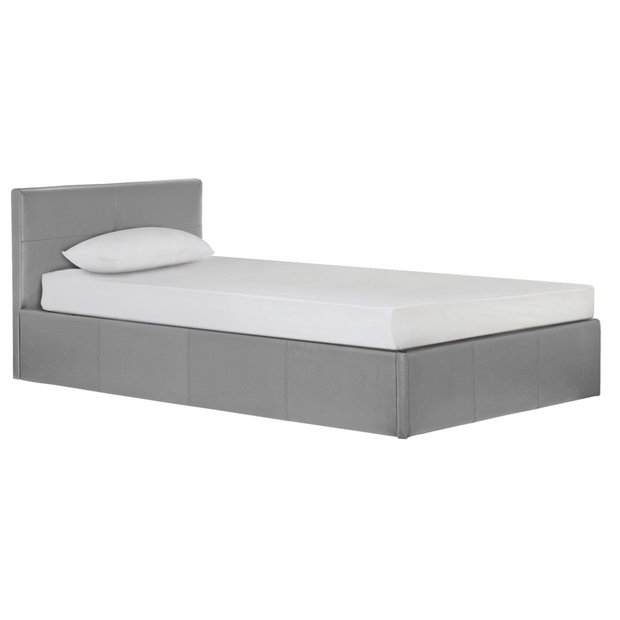 more details on hygena chapton grey ottoman bed frame single