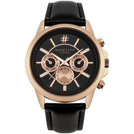Identity London Ladies' Black Strap Watch