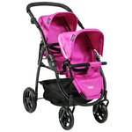 more details on Britax Duo Twin Dolls Stroller - Hot Pink.