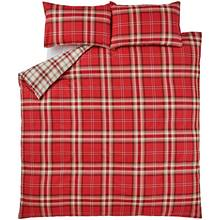 Catherine Lansfield Kelso Red Tartan Bedding Set - Kingsize