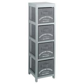 Argos Home 4 Drawer Canvas Bathroom Storage Unit  - Grey