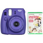 more details on Instax Mini 8 Camera with 10 Shots - Grape.