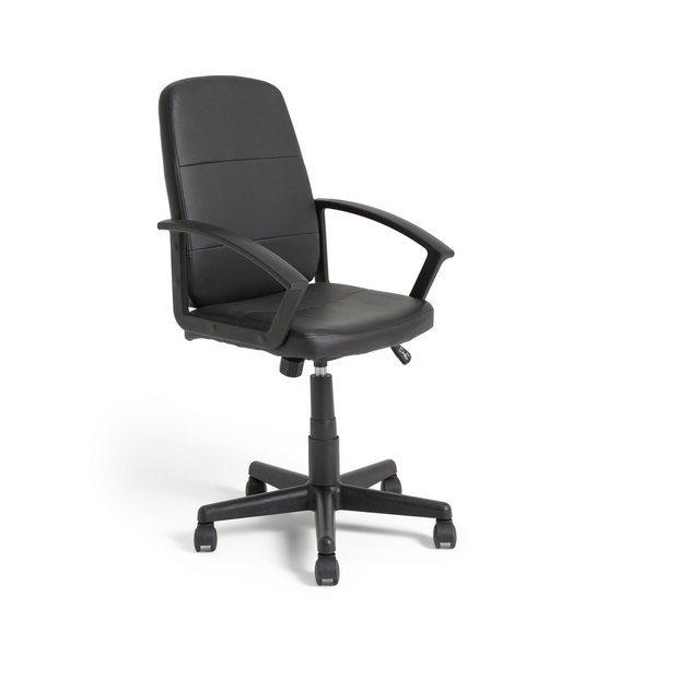 Buy home brixham height adjustable managers office chair black at your online Argos home office furniture uk