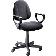 Argos Home Blake Gas Lift Adjustable Office Chair - Black