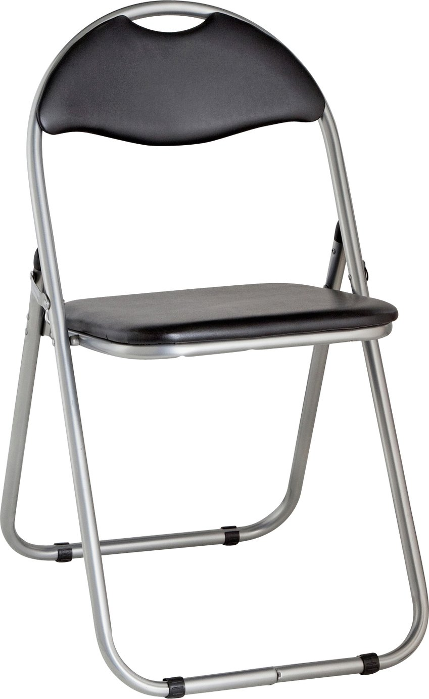 cheapest chair. HOME Padded Folding Office Chair - Black Cheapest