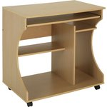 more details on HOME Curved Computer Desk Trolley - Beech Effect.