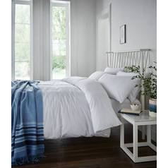 Catherine Lansfield Minimalist White Bedding Set - Single