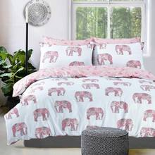 Pieridae Pink Elephant Bedding Set - Double