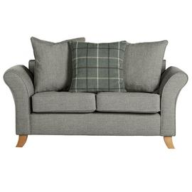 Argos Home Kayla 2 Seat Scatter Back Fabric Sofa -Light Grey