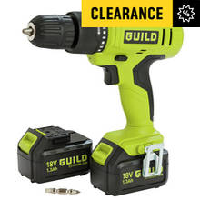 Guild 1.3AH Cordless Hammer Drill with 2 18V Batteries