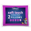 more details on Silentnight Soft Touch Memory Foam Pillow - 2 Pack