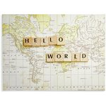 more details on Collection Hello World Printed Canvas.