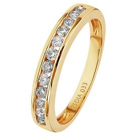 Revere 9ct Yellow Gold 0.33ct Diamond Channel Eternity Ring