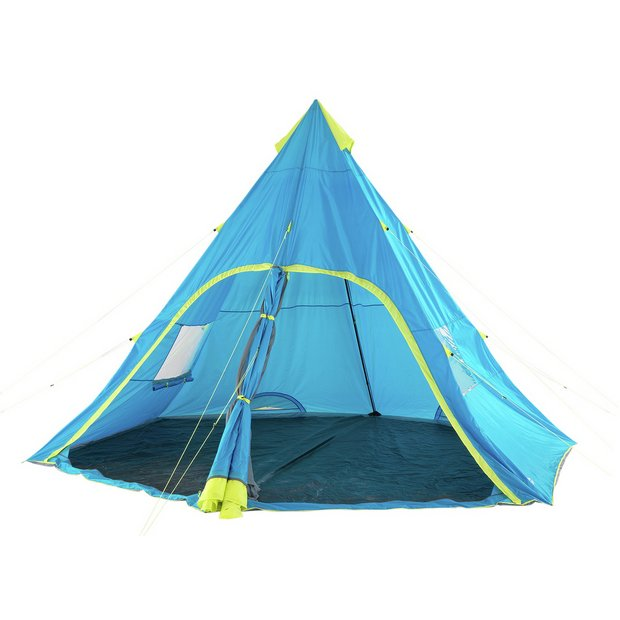 buy trespass 6 man 1 room teepee tent tents argos. Black Bedroom Furniture Sets. Home Design Ideas