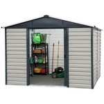 more details on Yardmaster 10 x 12 Extra Tall Metal Shiplap Shed.