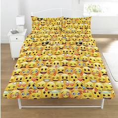 Emoji Multi Coloured Duvet Cover Set - Double