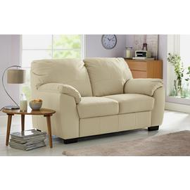 Argos Home Milano Pair of Leather 2 Seater Sofa - Light Grey