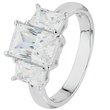 more details on Platinum Plated Silver 3 Stone Cubic Zirconia Baguette Ring.