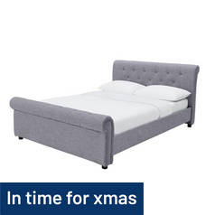 Argos Home Newbury Kingsize Bed Frame - Grey