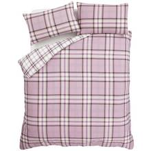 Catherine Lansfield Kelso Heather Duvet Cover Set - Double