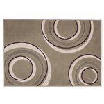 more details on HOME Origins Circles Rug - 100x150cm - Grey.