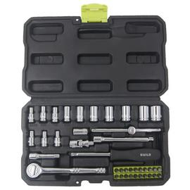 Guild 40 Piece 1/4 Inch Drive Socket Set