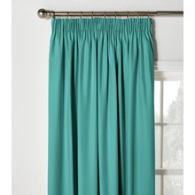 ColourMatch Blackout Pencil Pleat Curtains- 168x183cm - Teal
