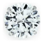 more details on Domain 9ct White Gold Round Cubic Zirconia Stud Earring.