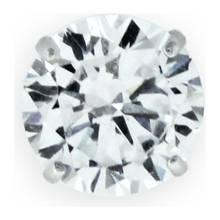 Revere Men's 9ct White Gold Cubic Zirconia Stud Earring